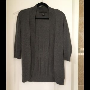 89th & Madison open cardigan in gray